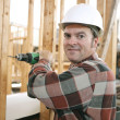 Carpenter on Construction Site — Stock Photo