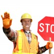 Construction Stop Isolated - Stock Photo