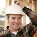 Construction Worker - Bright Idea — Stock Photo