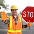 Construction Worker Stop — Stock Photo