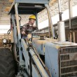 Стоковое фото: Construction Worker on Backhoe