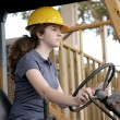Female Equipment Operator — Stock Photo #6671424