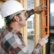 Stock Photo: Leveling Window Vertical