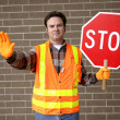 School Crossing Guard - Stok fotoğraf