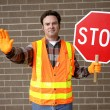 School Crossing Guard — Stok fotoğraf