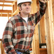 Thoughtful Construction Worker — Foto Stock