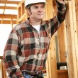 Thoughtful Construction Worker — Stock Photo
