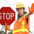 Royalty-Free Stock Photo: Traffic Directing Stop