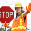 Stock Photo: Traffic Directing Stop