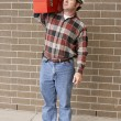 Working Man Complete — Stock Photo