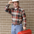 Stock Photo: Working Man Tips Hat