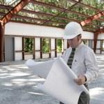 Architect on Jobsite — Stock Photo
