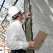 Bulding Inspection Incomplete Stucco — Stock Photo