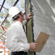 Bulding Inspection Incomplete Stucco - Stockfoto
