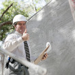 Construction Inspector Thumbsup — Stockfoto
