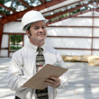 Construction Inspector - Satisfied — Stock Photo