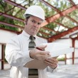 Royalty-Free Stock Photo: Construction Inspector - Skepticism