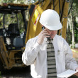 Engineer Discussing Plans — Stock Photo