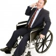 Disabled Businessman on Phone — Stock Photo