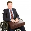 Disabled Businessman with Briefcase — Stock Photo #6673181
