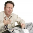 Chest Pain at Work — Stock Photo #6673467