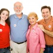 American Family Voted — Stock Photo