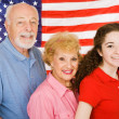 Stock Photo: American Grandparents
