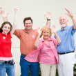 Election - Enthusiastic Voters — Stock Photo