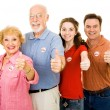 Family of Voters - Thumbsup — Stock Photo