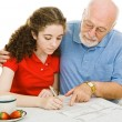 Filling Out Forms Together — Stock Photo