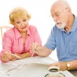 Seniors Voting from Home — Stock Photo
