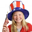 Patriotic Girl — Stock Photo #6673931