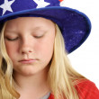 Stars Stripes and Sadness — Stock Photo