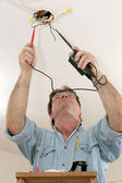 Electrician Testing Voltage — Stock Photo