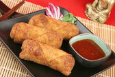 Crispy Chinese Egg Rolls — Stock Photo