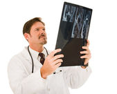Handsome Doctor with MRI — Stock Photo