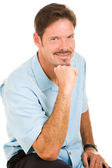 Handsome Man with Roguish Grin — Stock Photo