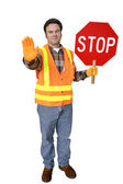 Crossing Guard Full Body Isolated — Stock Photo