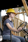 Female Equipment Operator — Stock Photo