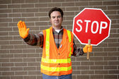 School Crossing Guard — Stock Photo