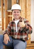 Thumbsup on Construction Site — Stock Photo