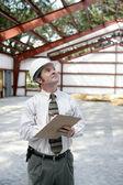 Construction Inspector - Copyspace — Stock Photo