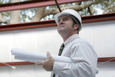 Engineer Surveying Project — Stock Photo
