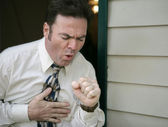 Coughing Man — Stock Photo