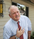 Mature Man - Heart Trouble — Stock Photo