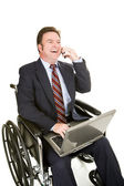 Disabled Businessman - Pleasant Chat — Stock Photo