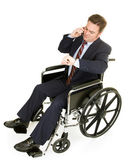 Disabled Businessman Running Late — Stock Photo