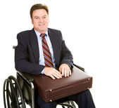 Disabled Businessman with Briefcase — Stock Photo