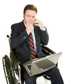 Disabled Businessman - Thinking — Stock Photo