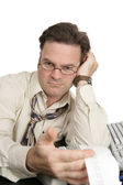 Accounting Series - Unfriendly Auditor — Stock Photo
